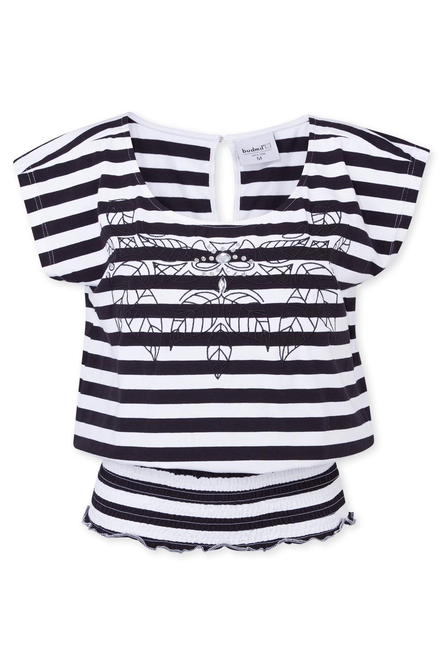 Póló fekete - fehér - csíkos Hétköznapi Viselet Póló   budmil