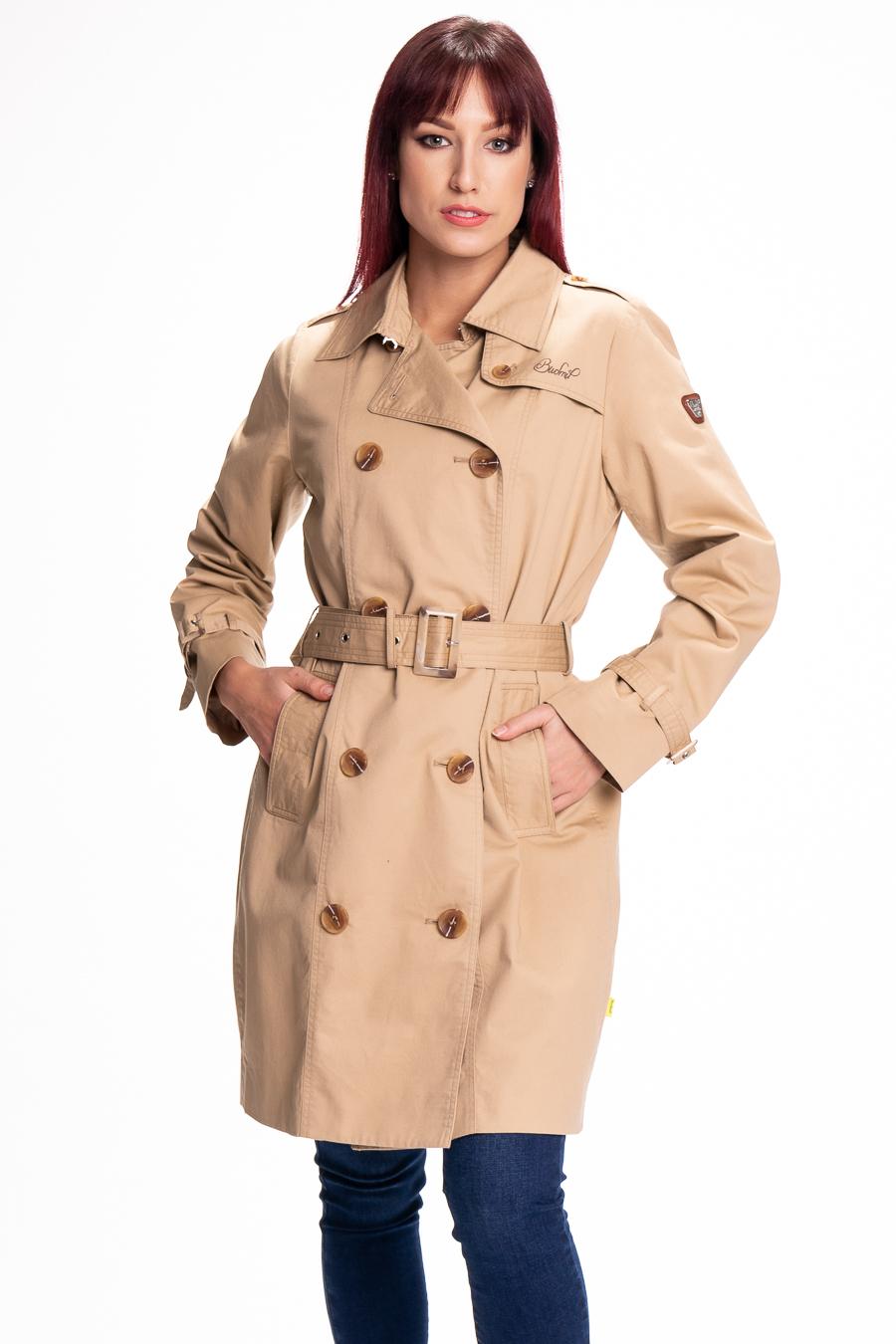 Női átmeneti kabát bézs Divatos Viselet Női átmeneti kabát